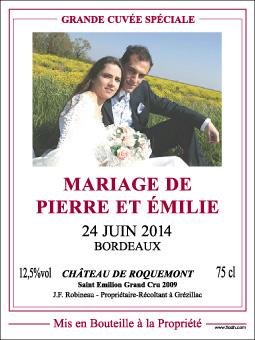 etiquette personnalisee - Tiquette Personnalise Champagne Mariage